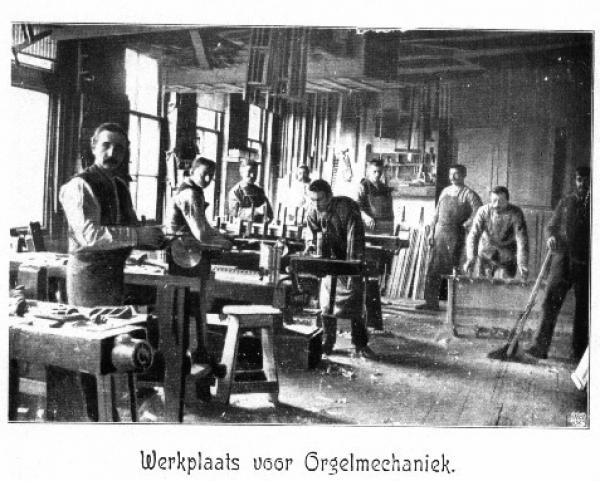 10 werkplaats voor orgelmechaniek